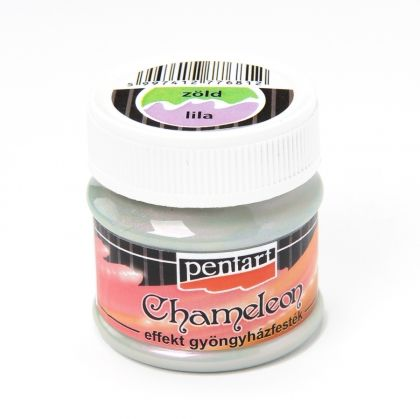 Chameleon pearl effect acrylic paint 50ml - green - lilac P3501