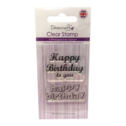 Clear stamp 5x7cm - Happy Birthday DCCS040