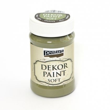 Dekor paint, soft 100 ml - olive P21479