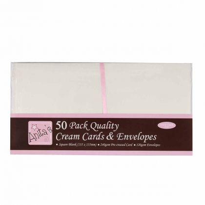 Cards & Envelopes set square 50 pcs - Cream ANT-1512021