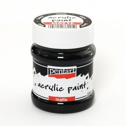 Acrylic paint matte 230 ml - black P 3233