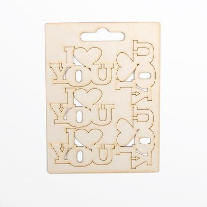 Chipboard - LOVE 5 IDEA0689