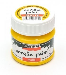 Acrylic paint matte 50 ml - sun yellow P1225