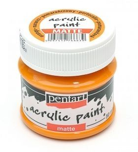 Acrylic paint matte 50 ml - orange P1226