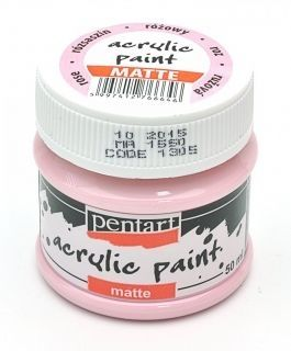Acrylic paint matte 50 ml - rose P1305