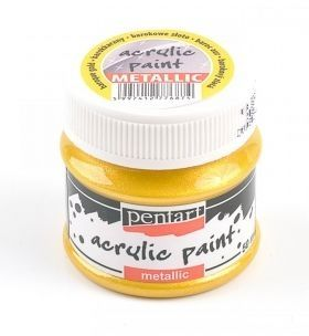 Acrylic paint metallic 50 ml - baroque gold P13141