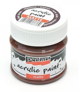 Acrylic paint matte 50 ml - dark brown P1315