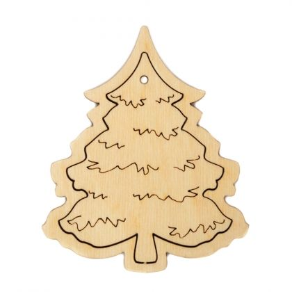 Wooden Christmas figurine - Christmas tree IDEA1759