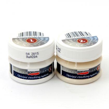 Opalesque crackle varnish for glass, 2 components- 2x25ml - P12915