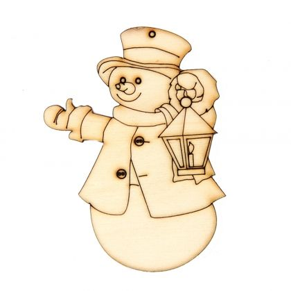 Wooden Christmas figurine - Snowman IDEA0359-11