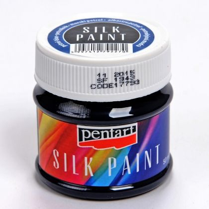 Silk paint 50ml - petrol blue P17793