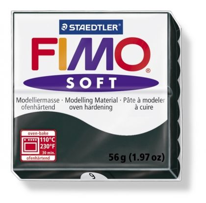 FIMO soft modelling clay 56g - black 9 G80209