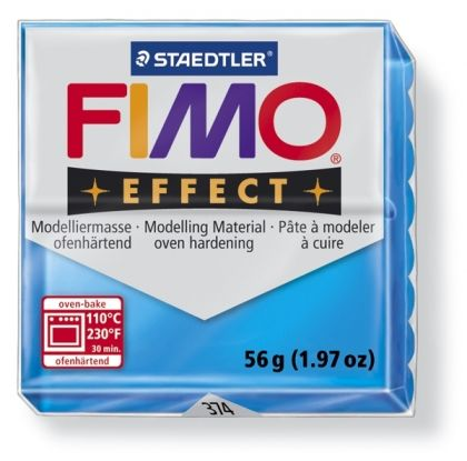 FIMO effect modelling clay 56g - translucent blue 374 G8020374