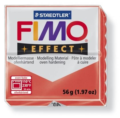 FIMO effect modelling clay 56g - translucent red 204 G8020204