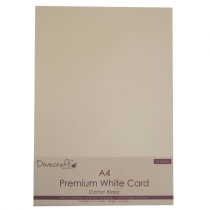 White Cards A4 10pcs - DCBS65