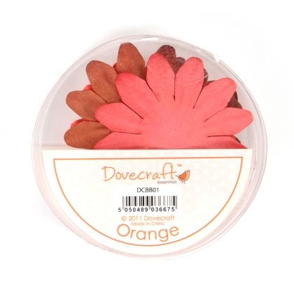 Paper blossoms 24pcs - Orange DCBB01-12