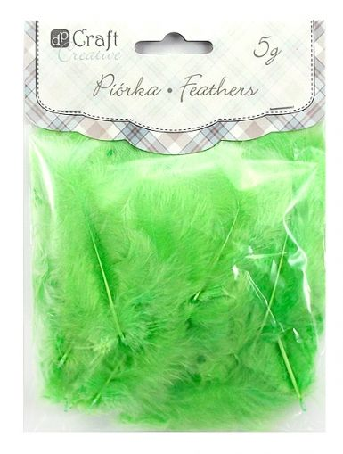 Feathers 5-12 cm - Green CEPI-006