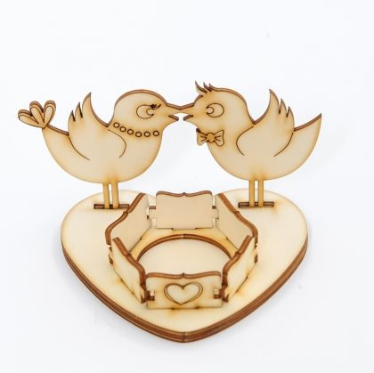 Wooden stand for egg -  chickens IDEA0620
