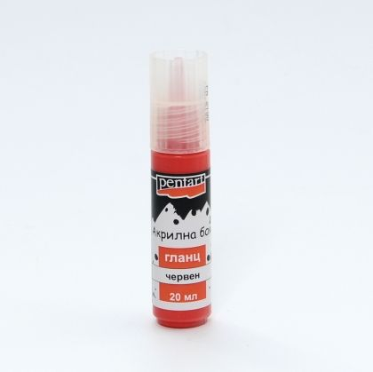 Acrylic paint glossy 20 ml - red P2119