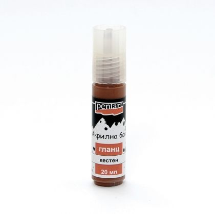 Acrylic paint glossy 20 ml - chestnut P2175