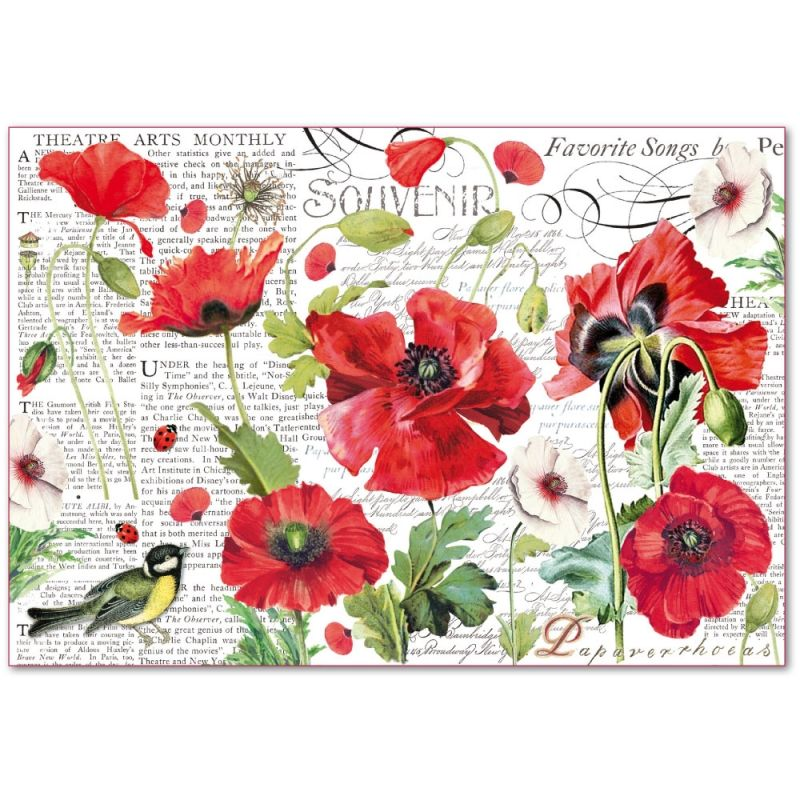 Rice Paper for Decoupage Scrapbook Craft Sheet Botanic Flower Cards