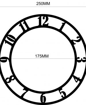 Clock-face 25cm - Arabic numerals IDEA0739