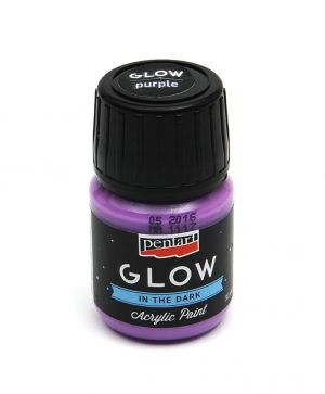 Acrylic paint glow in the dark - 30 ml - lilac P16483