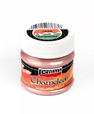 Chameleon pearl effect acrylic paint 50ml - rose-turquoise P3503