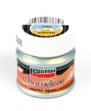 Chameleon pearl effect acrylic paint 50ml - blue - gold P3513