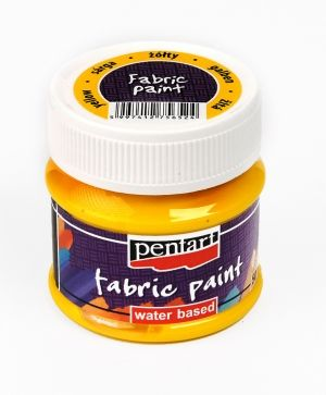 Fabric paint  50ml - yellow P3480