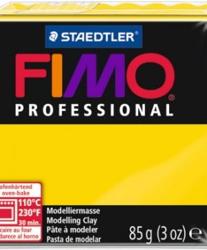 FIMO professional modelling clay 85g - true yellow 100 G8004100