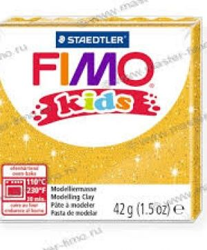 FIMO Kids modelling clay 42g - glitter gold 112 G8030112