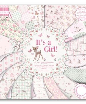 "First Edition Paper Pad 12""x12"" - It's a girl FEPAD078"