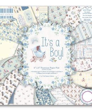 "First edition Paper Pad 6""x6"" - It's a boy FEPAD077"