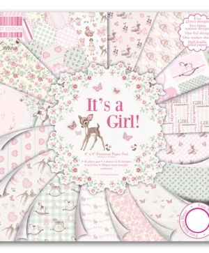 "First Edition Paper Pad 8""x8"" - It's a girl FEPAD079"