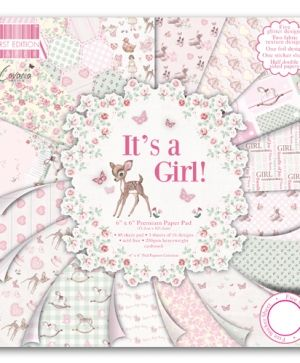 "First Edition Paper Pad 6""x6"" - It's a girl FEPAD080"