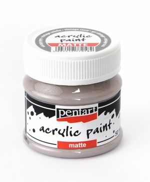 Acrylic paint matte 50 ml - vintage grey P20990
