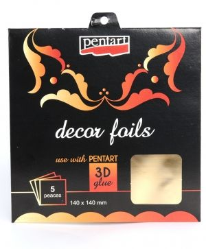 Decor foils 14x14cm, 5 sheets - gold P20736