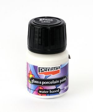 Glass & porcelain paint 30ml - white P21346