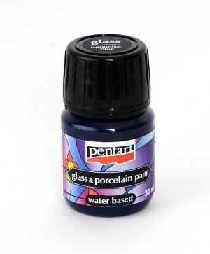 Glass & porcelain paint 30ml - turquoise-blue P21344