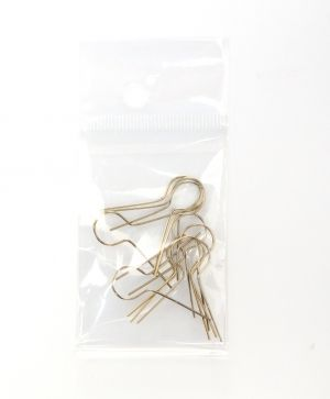 Decoration Hanging Wires L:22mm 10pcs - gold C603650