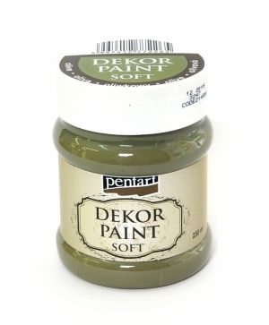 Dekor paint, soft 230 ml - olive P21489