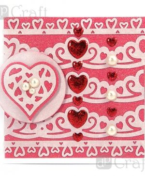 Border craft punch 4,5cm - Pons hearts JCDZ-607-054