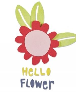 Sizzix Thinlits Die Set 5pcs - Hello Flower 660805