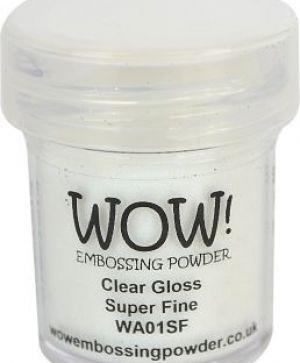 Embossing powder 15ml - Clear Gloss, Super Fine WA01SF