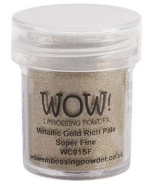 Embossing powder 15ml - Gold Rich Pale, Super Fine WC01SF