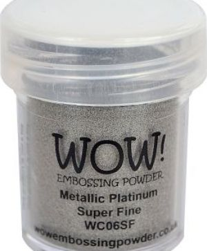 Embossing powder 15ml - Platinum, Super Fine WC06SF