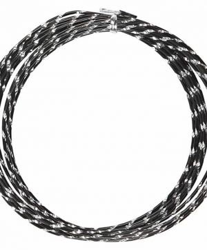 Aluminium wire diamond-cut 7m - black C518301