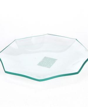 Glass bowl octagonal 18cm - P2927