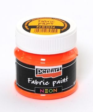 Fabric paint 50ml  - neon orange P20177